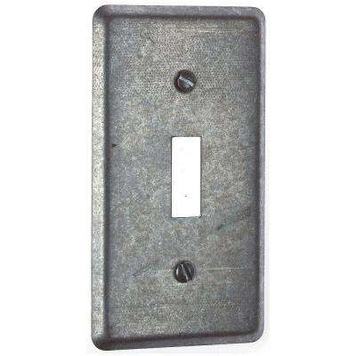 1 Gang 4 in. Utility Steel Cover