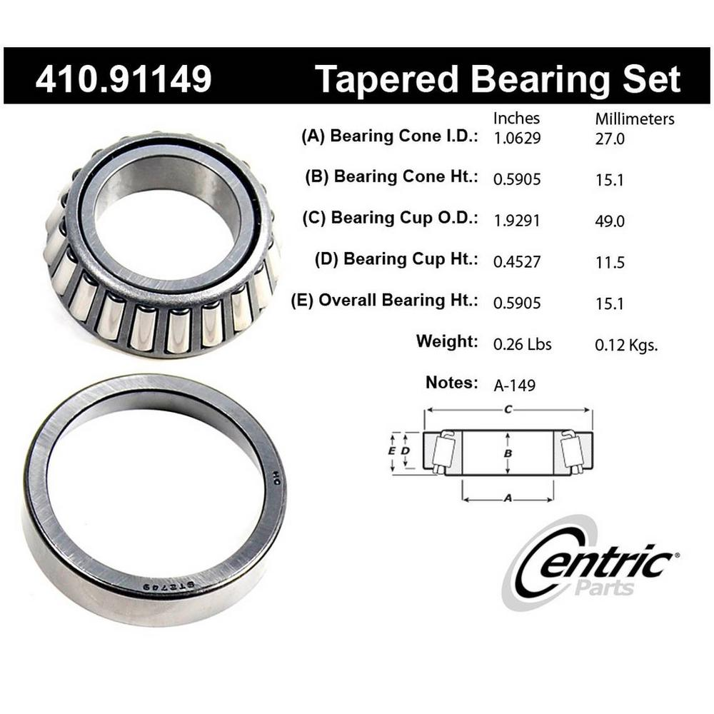 Front Wheel Bearing For 2005-2015 Toyota Tacoma 2006 2007 2008 2009 2010 Centric
