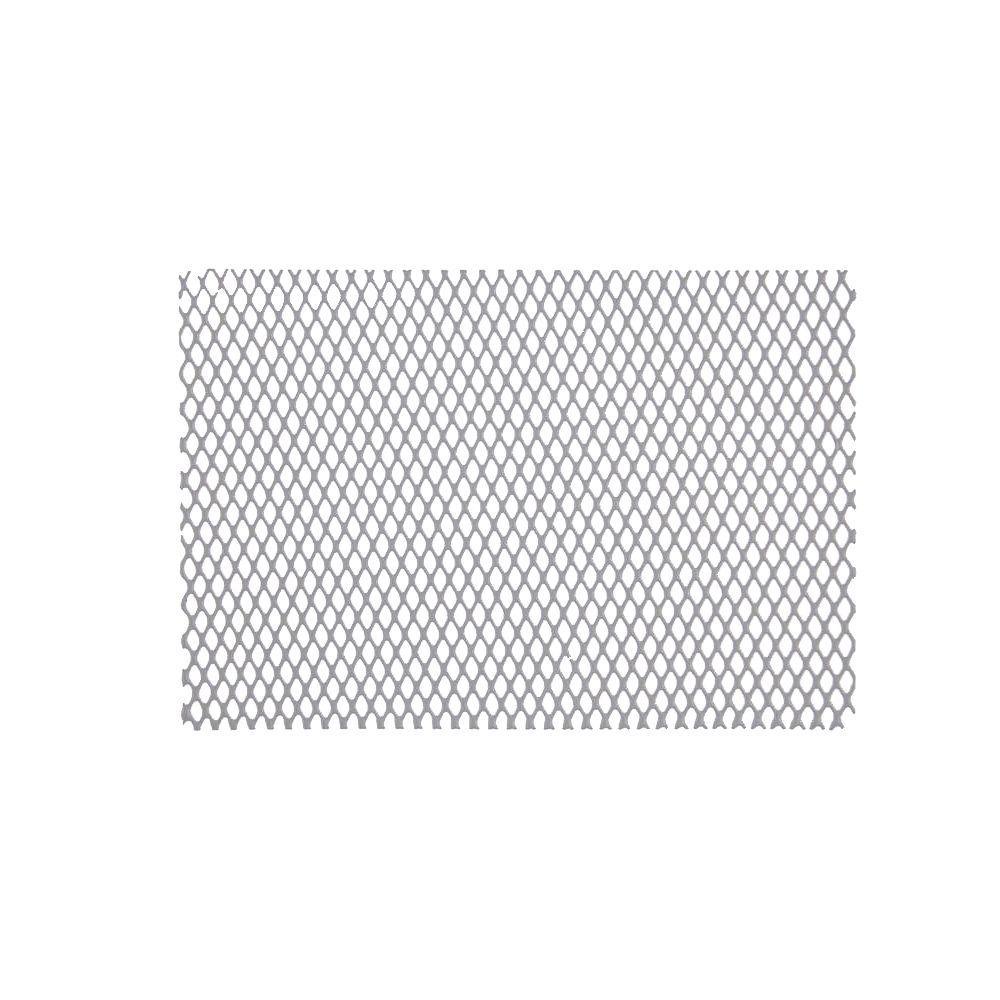 35-1/2 in. x 79-1/2 in. White Galvanized Steel Fence Screen