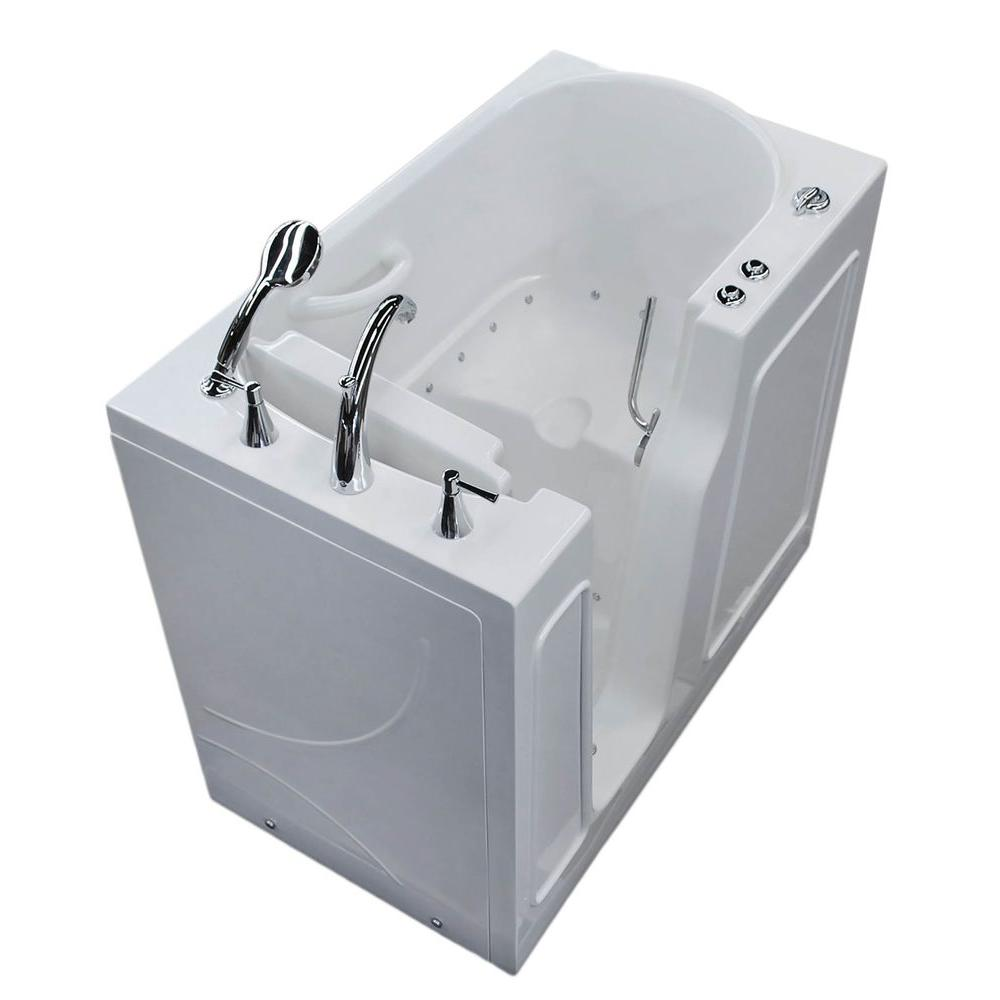 Universal Tubs Nova Heated 3.9 ft. Walk-In Air Jetted Tub in White ...
