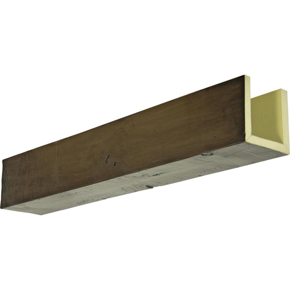 Ekena Millwork 6 In X 4 In X 18 Ft 3 Sided U Beam Knotty Pine Premium Walnut Faux Wood Ceiling Beam Bmkp3c0040x060x216zw The Home Depot