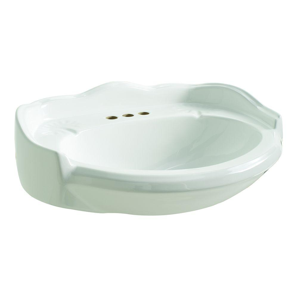 Glacier Bay Westminster 21 In. Pedestal Sink Basin In White