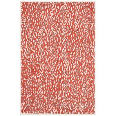 Marbella Red/Ivory 4 ft. x 6 ft. Area Rug