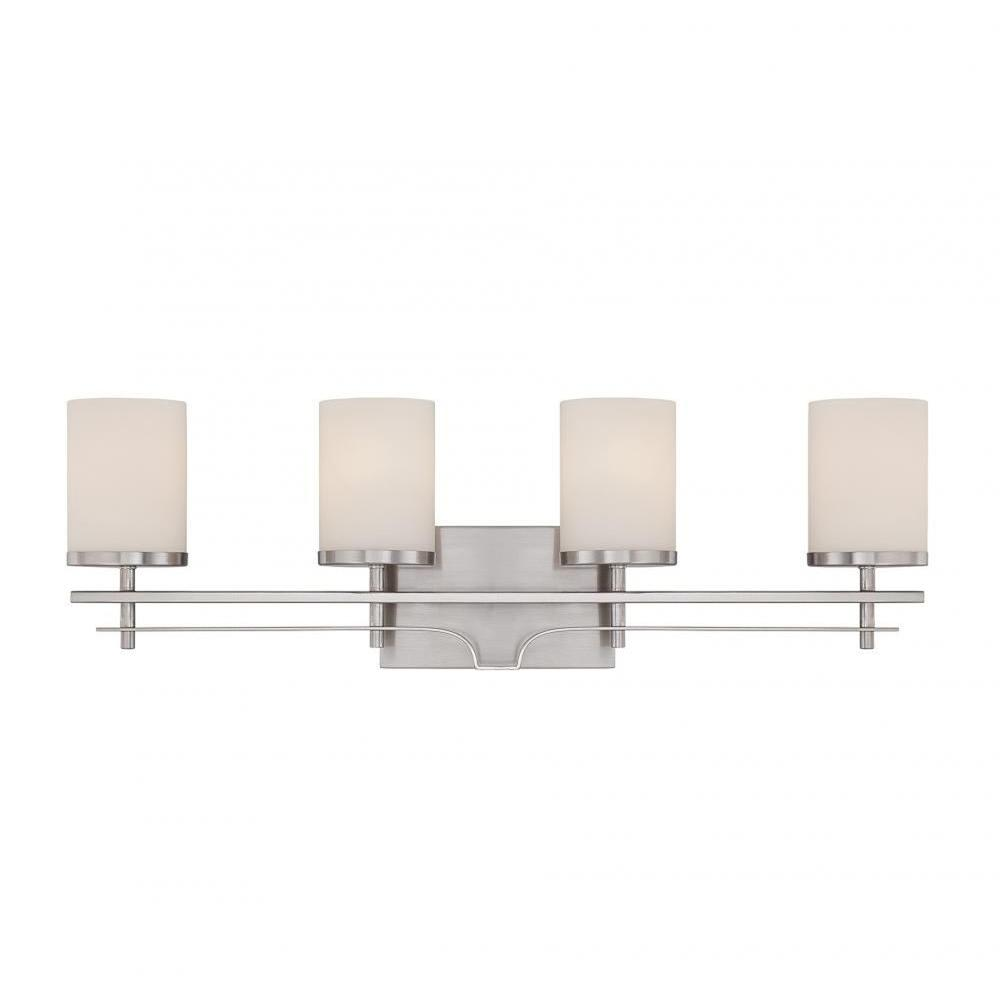 Matchbox 20 Bright Lights Bathroom Window: Filament Design Miles 4-Light Satin Nickel Bath Vanity