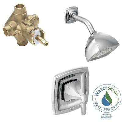 Voss Single-Handle 1-Spray PosiTemp Shower Faucet Trim Kit with Valve in Chrome (Valve Included)