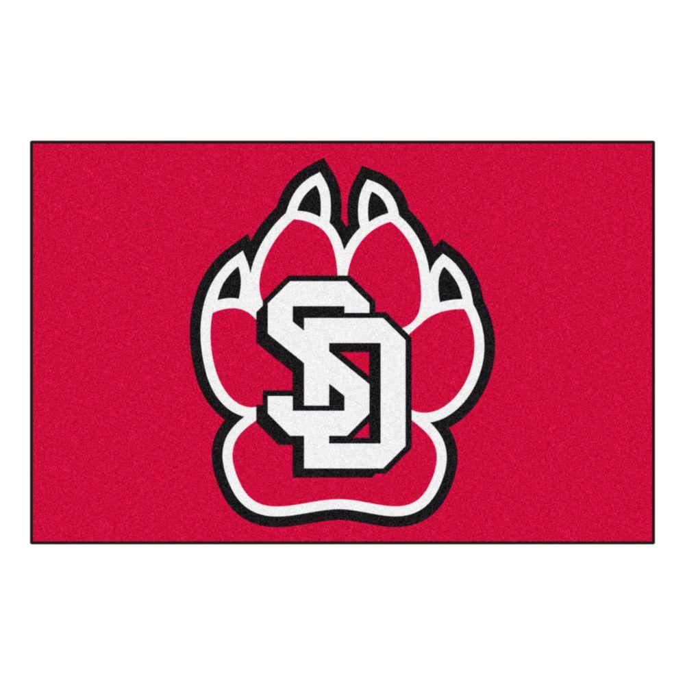 Fanmats Ncaa University Of South Dakota Red 1 Ft 7 In X