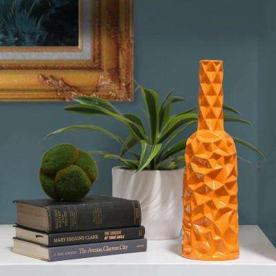 Orange Gloss Finish Ceramic Decorative Vase