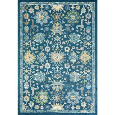Skyline Teal 5 ft. x 8 ft. Traditional Area Rug
