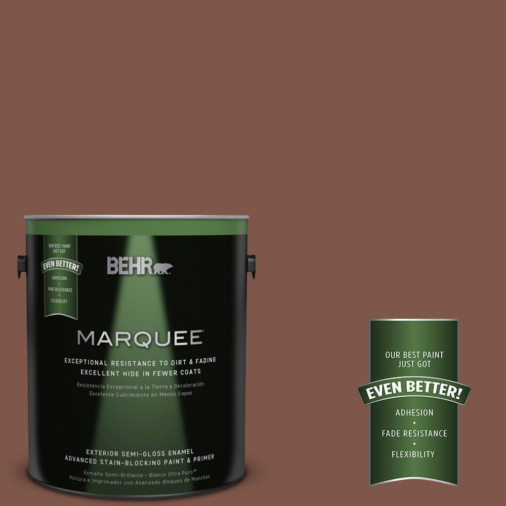BEHR MARQUEE 1-gal. #QE-15 Iron Oxide Semi-Gloss Enamel Exterior Paint