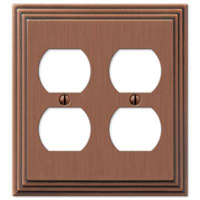 Steps 2 Duplex Wall Plate - Steps Antique Copper