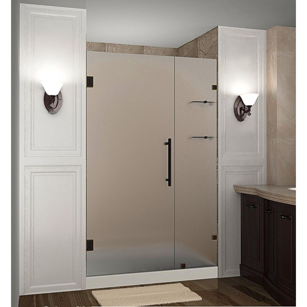 Nautis GS 46 in. x 72 in. Frameless Hinged Shower Door