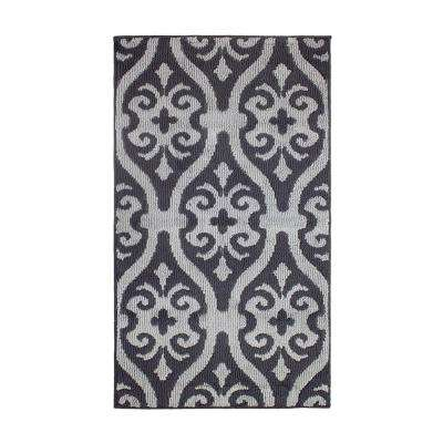 Nina Flat Grey/Grey 2 ft. x 4 ft. Loop Area Rug