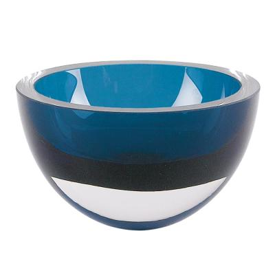 Penelope 6 in. Peacock Blue Mouth Blown European Lead Free Crystal Bowl