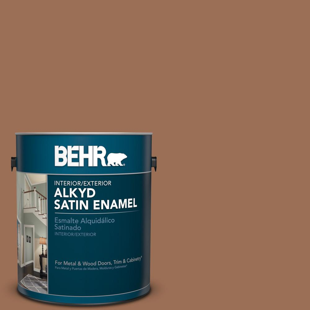 1 gal. #S210-6 Cinnamon Crunch Satin Enamel Alkyd Interior/Exterior Paint