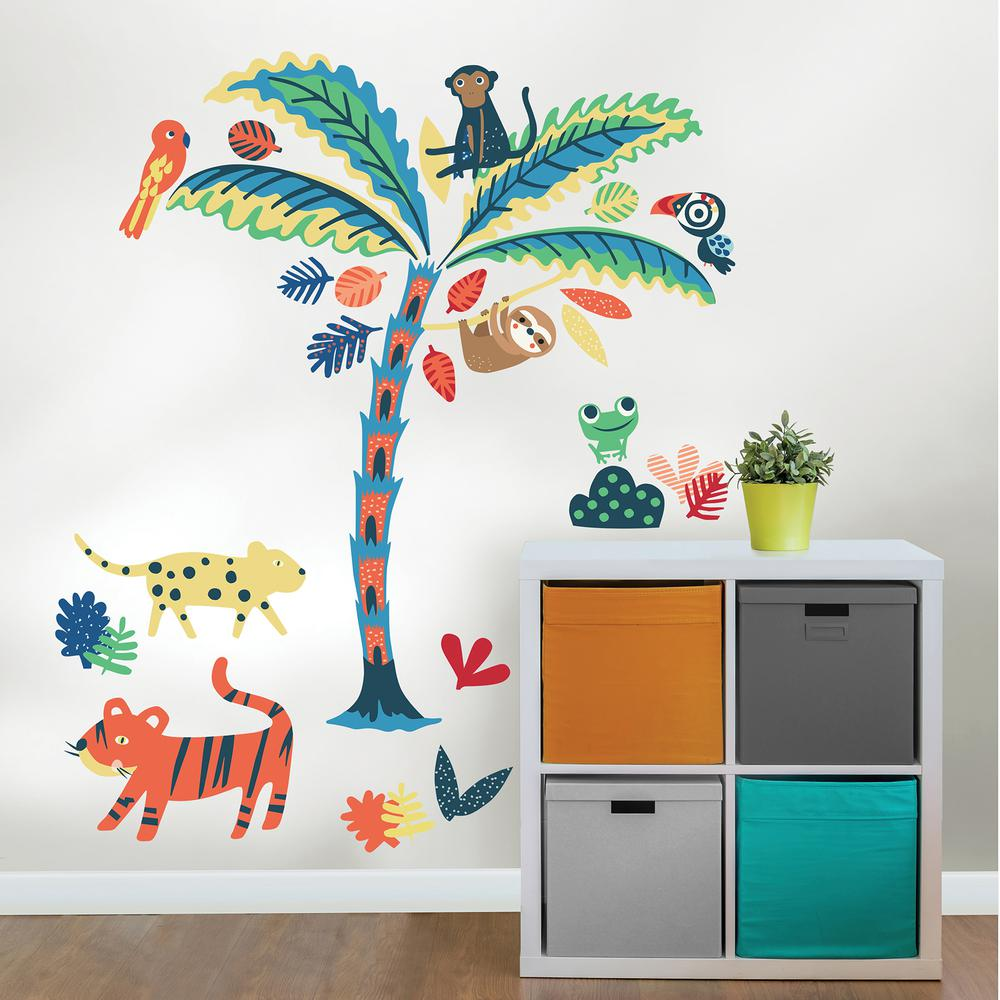Tropical Rainforest Friends Wall Art Kit