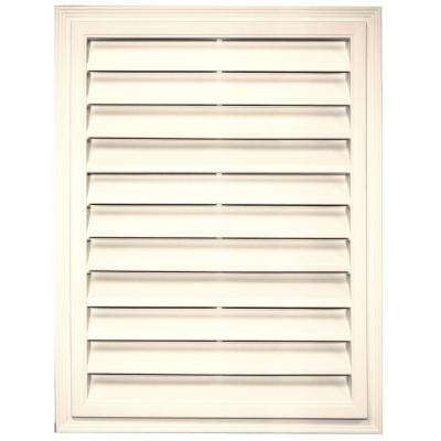 18 in. x 24 in. Rectangle Gable Vent in Champagne