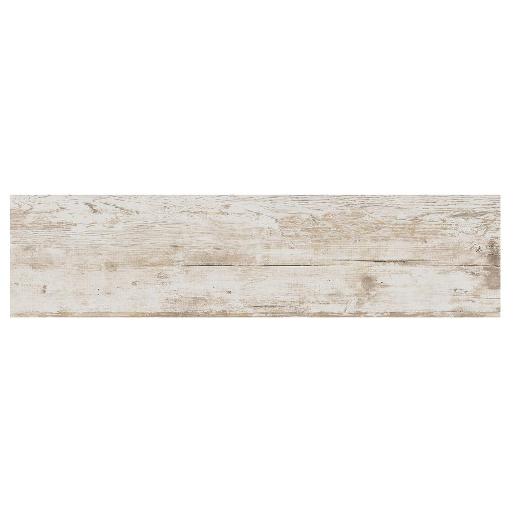 Daltile Rustic Bridge White Wash 12 In X 48 Colorbody Porcelain Floor And