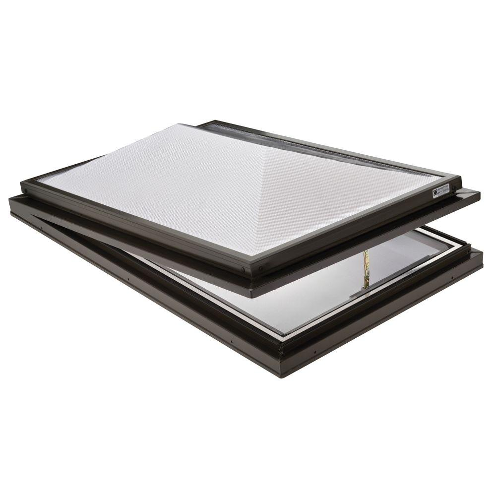 Sunoptics Prismatic 2 ft. x 3 ft. Venting Curb-Mounted Double Hip Skylight
