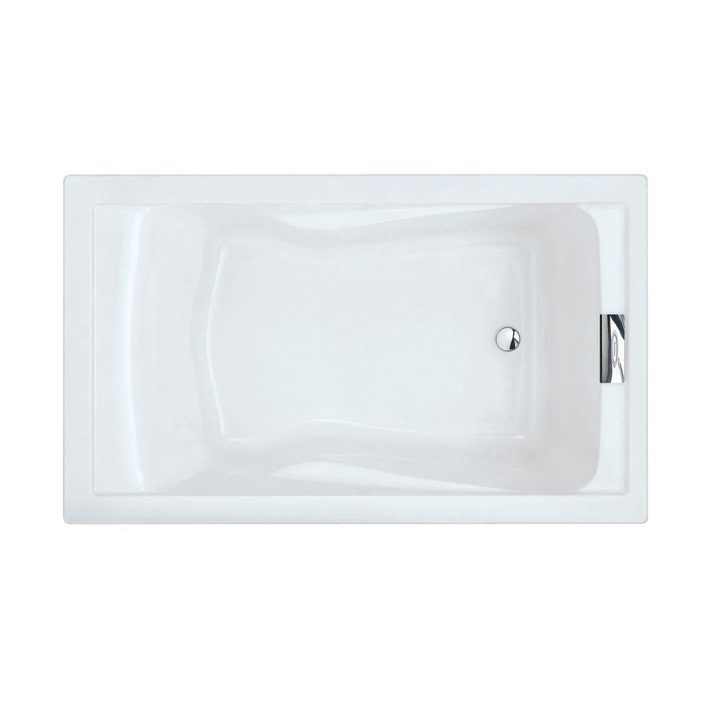Charmant Reversible Drain Deep Soaking Tub In Arctic