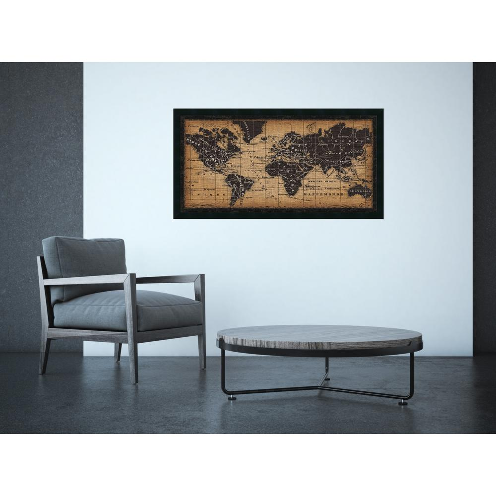 Amanti Art 42 In W X 22 In H Old World Map By Pela Studio Framed