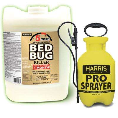 5 Gal. 5-Minute Egg Resistant Bed Bug Killer and 1 Gal. Tank Sprayer