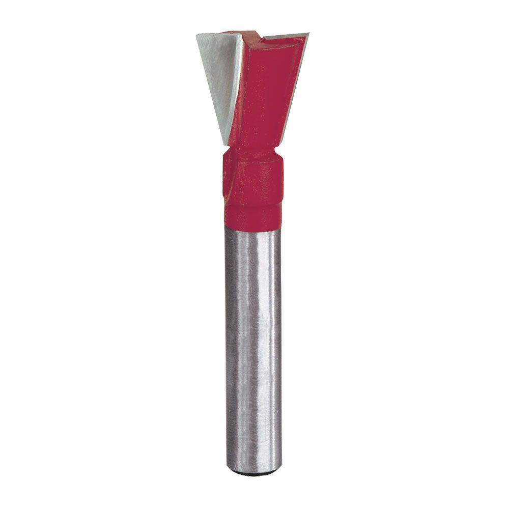 Diablo 1/3 in. x 1/2 in. Carbide Dovetail Router Bit with 1/4 in Min Chuck