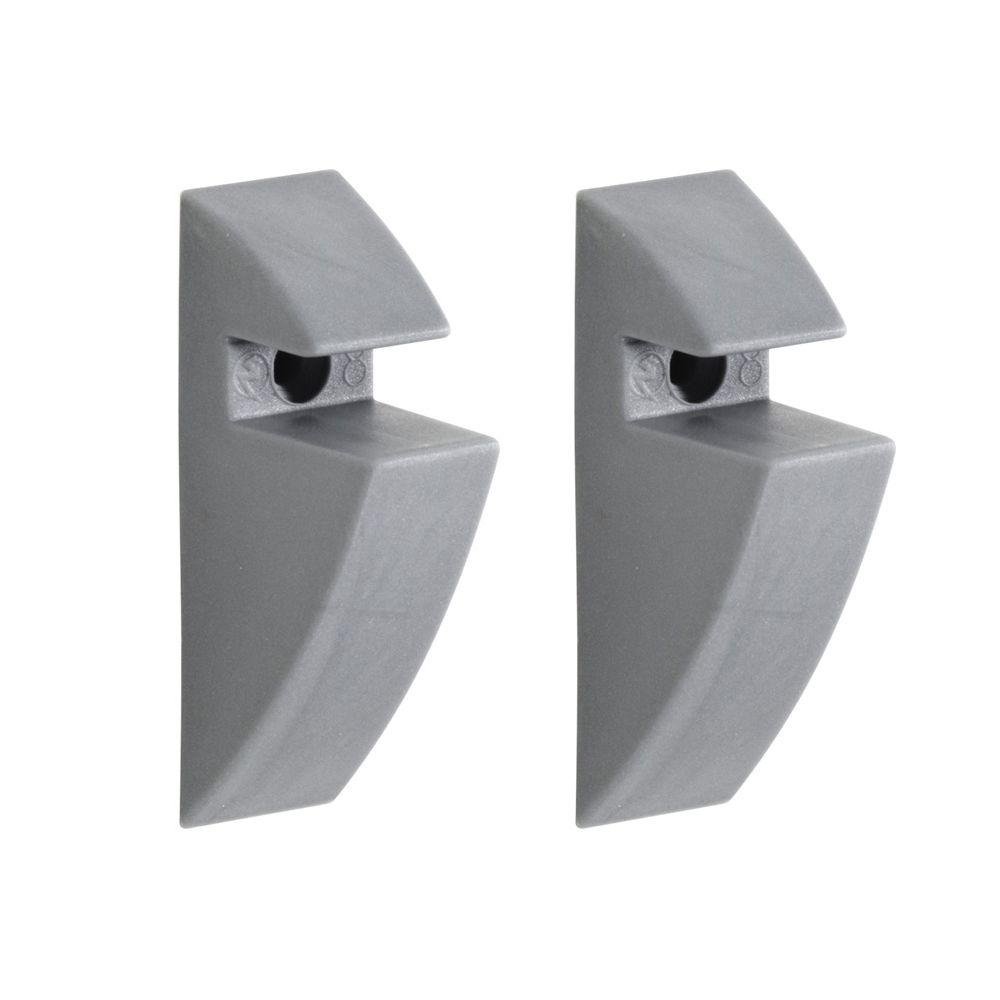Dolle 5/16 in. Shelf Support Clip in Grey