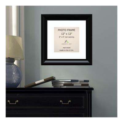 Steinway 8 in. x 8 in. White Matted Black Picture Frame