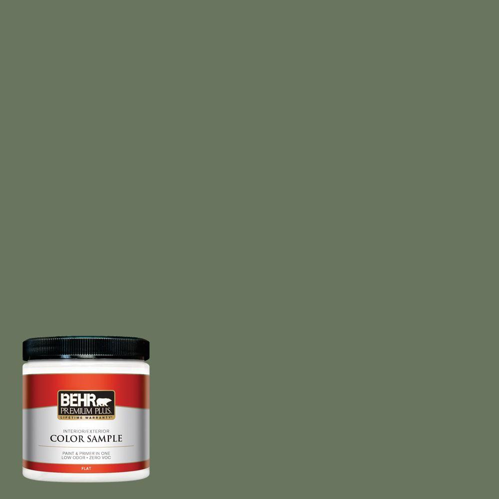 8 oz. #440F-6 Old Vine Flat Interior/Exterior Paint and Primer in