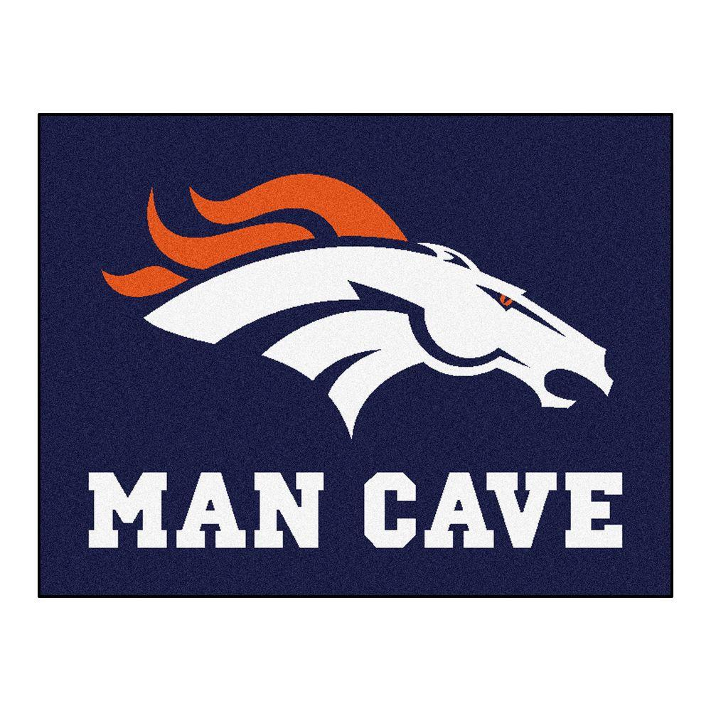 fanmats denver broncos blue man cave 3 ft. x 4 ft. area rug-14296 Area Rugs Denver