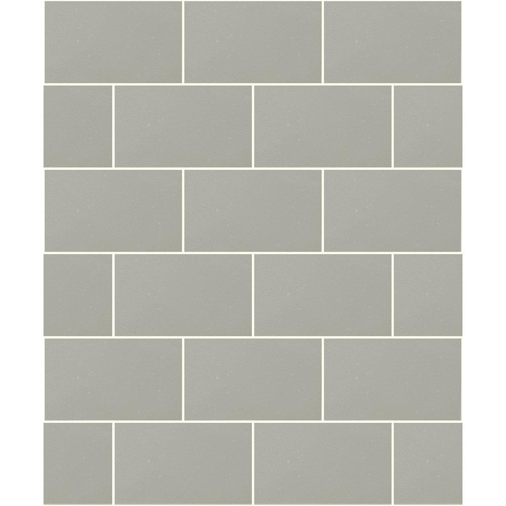 Neale Light Grey Subway Tile Wallpaper Sample