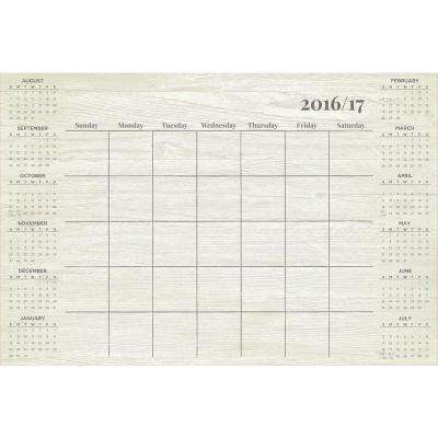36 in. x 24 in. Weathered Academic Calendar 2016-17 Wall Decal