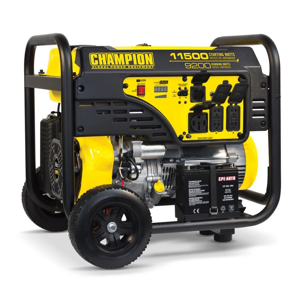 11,500/9,200-Watt Gasoline Powered Electric Start Portable Generator