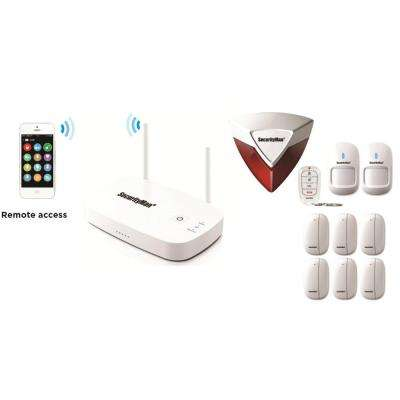 Mobile App Based Wireless Home Security Alarm System with 8 Sensors for Home and Office
