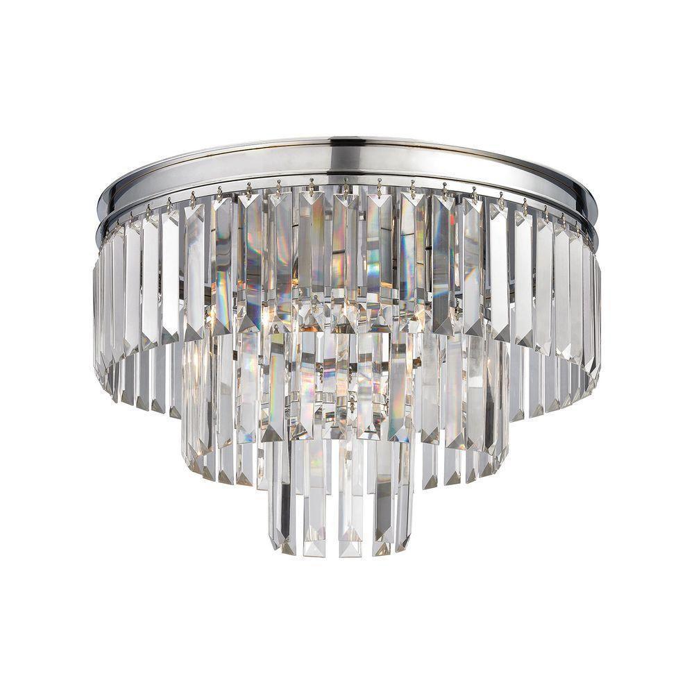 Palacial 3-Light Polished Chrome LED Semi Flush Mount