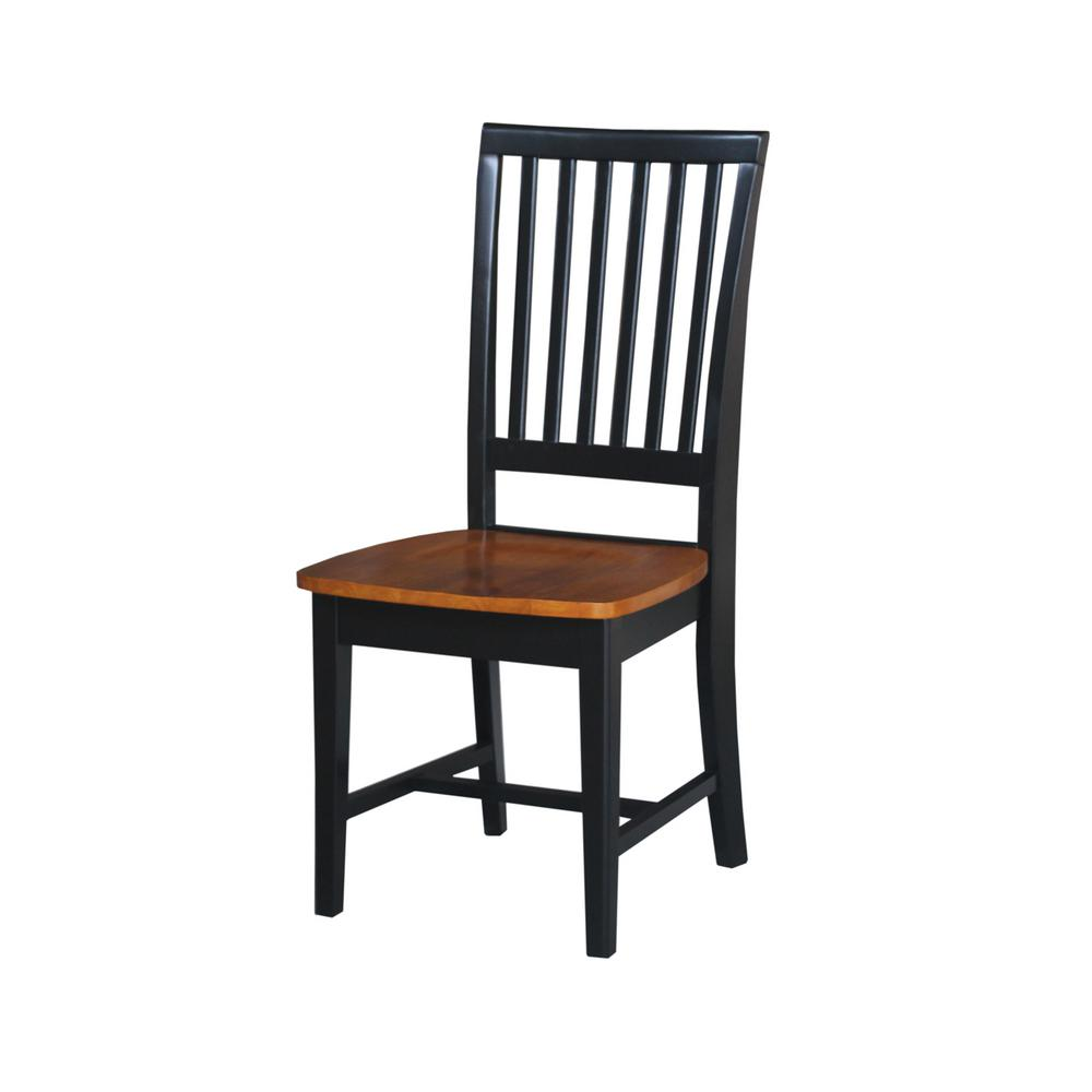 Black & Cherry Wood Mission Dining Chair (Set of 2)