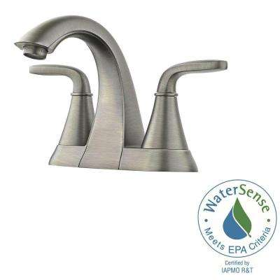Pasadena 4 in. Centerset 2-Handle Bathroom Faucet in Slate
