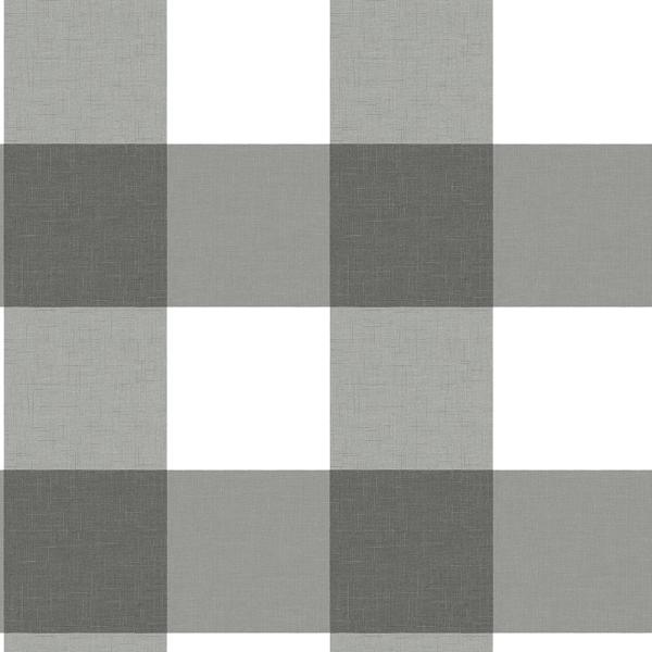 Chesapeake 56.4 sq. ft. Selah Black Gingham Wallpaper 3115-12532