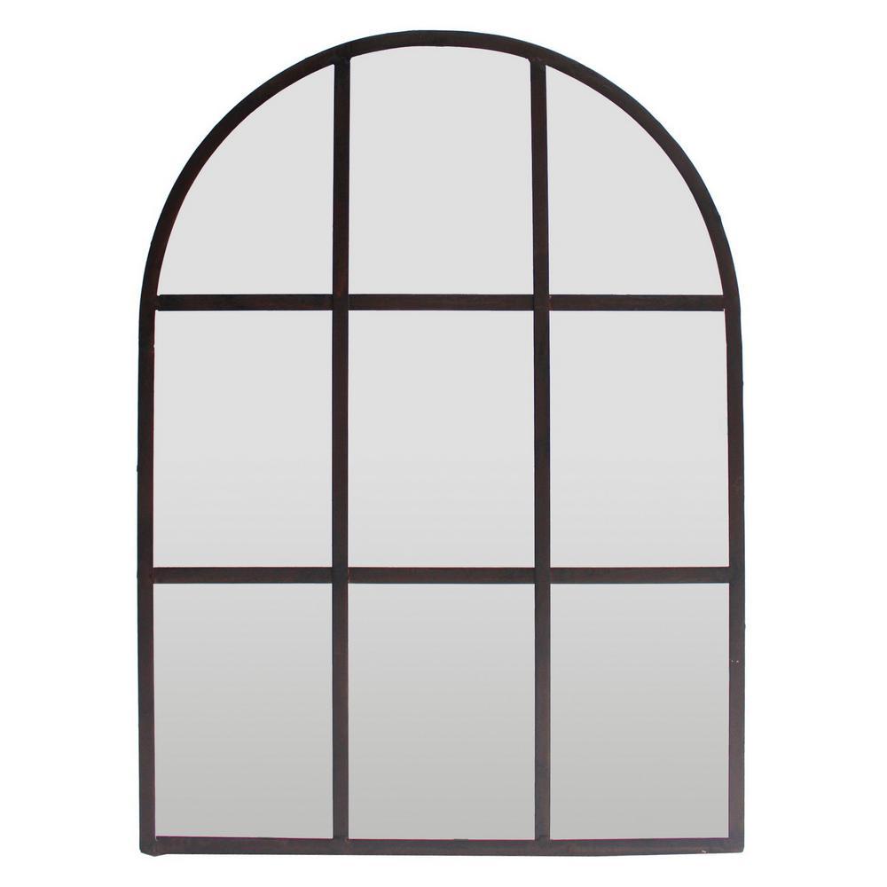 23.5 in. Metal Wall Decor Mirror - Rust