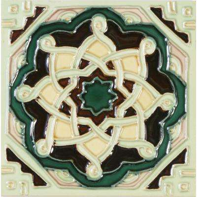 Hand-Painted Ceramic Laberinto 6 in. x 6 in. x 6.35 mm Glazed Ceramic Wall Tile (2.5 sq. ft. / case)