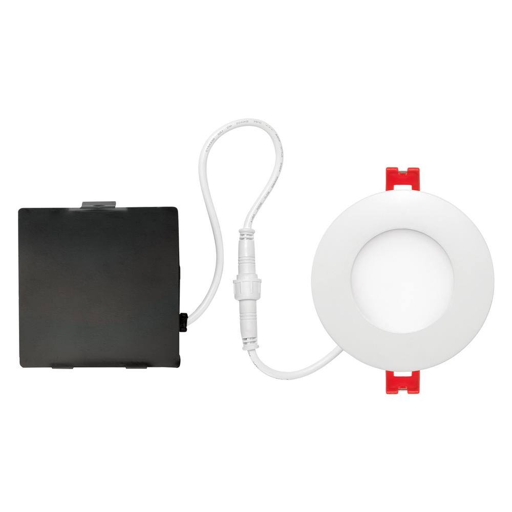 Designer Ultra Slim 3 in. White Integrated LED Recessed Kit