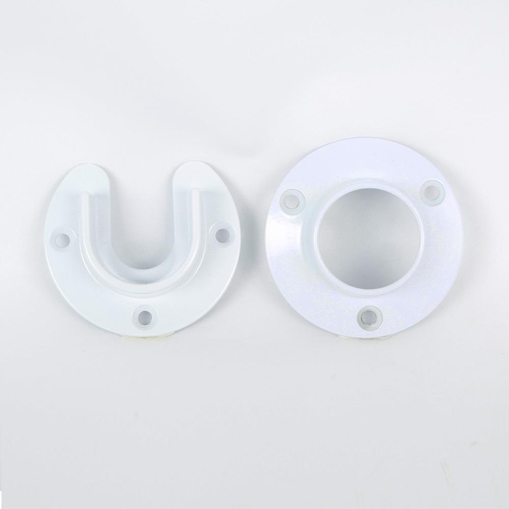 Heavy Duty White Closet Pole Sockets (