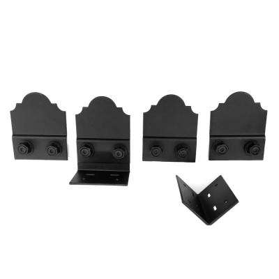 Laredo Sunset 5 in. Black Galv. Steel 90 Wood Connector and Accent Plates (2 sets per box)