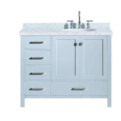 38 46 In Vanities With Tops Bathroom Vanities The Home Depot