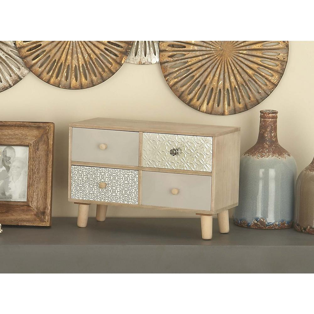 Decorative Storage Box With Drawers Multi Pattern Design