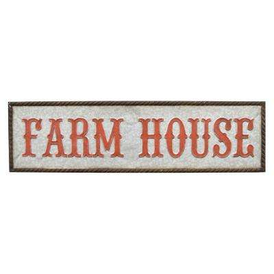 Novelty Sign-Farm House Finished in Gray - 46 X 1.75 X 12.5