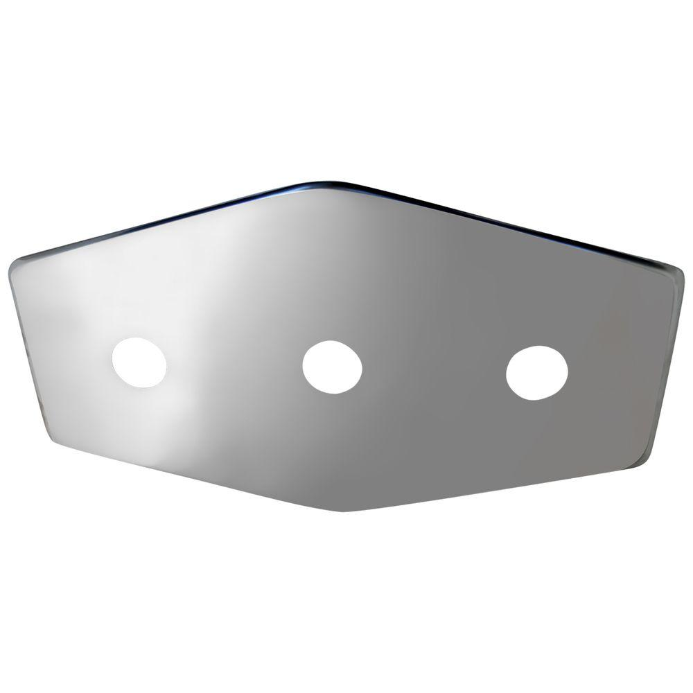 Lincoln 3-Handle Stainless Steel Repair Plate with Mounti...