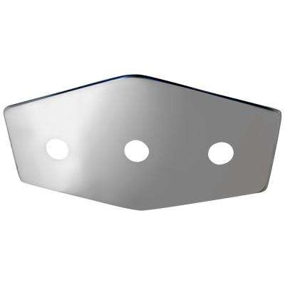 3-Handle Stainless Steel Repair Plate with Mounting Hardware
