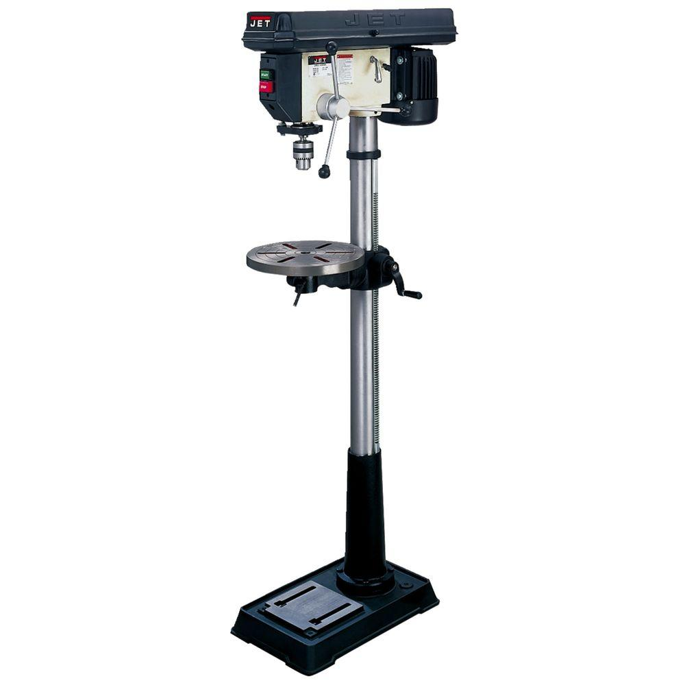 3/4 HP 16.5 in. Floor Standing Drill Press with Worklight, 16-Speed,