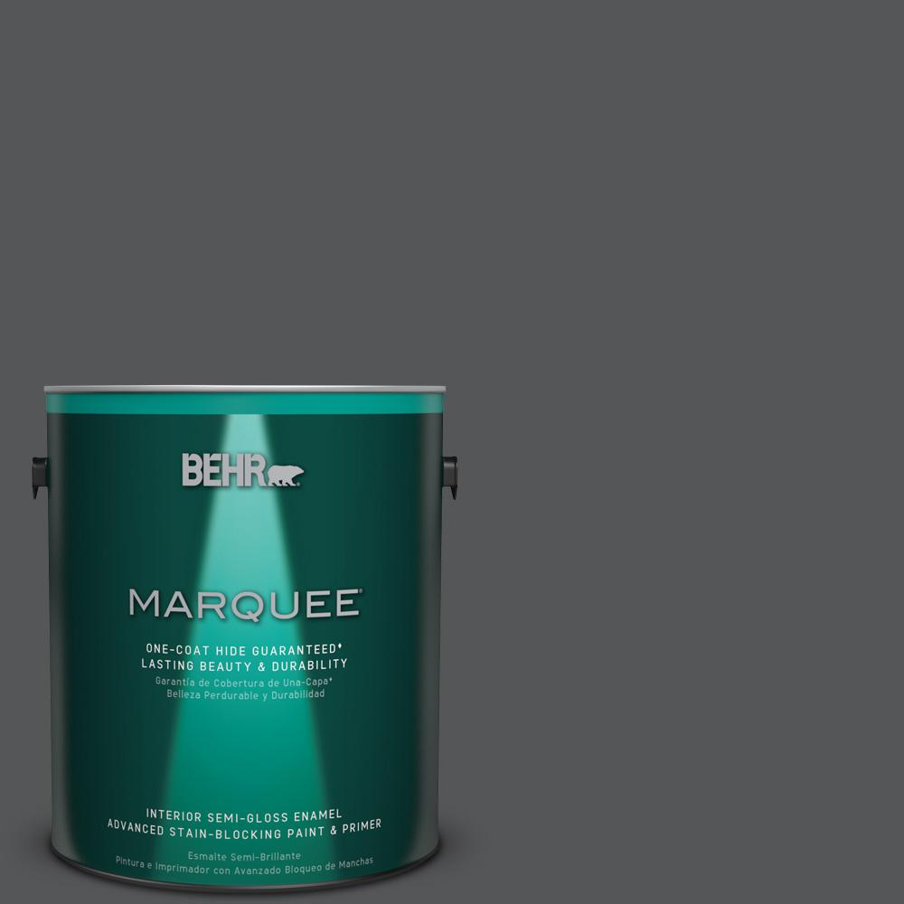 1 gal. #PPU24-22 Shadow Mountain Semi-Gloss Enamel Interior Paint